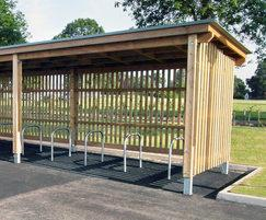 Stoneleigh Park cycle shelter SCS309