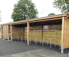 Stoneleigh cycle and smoking shelter SCS309