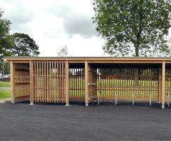 Stoneleigh Park cycle and smoking shelter SCS309