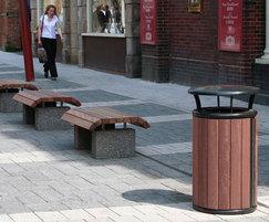 Langley litter bin LLC102, Walsall town centre
