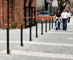 Malford bollard MBD201, Walsall town centre