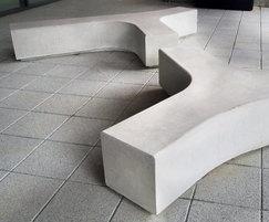 Concrete Tri Bench PBN413