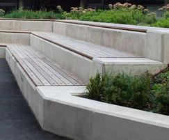 Hardwood Wall Top Benching SBN308 NS
