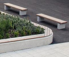 Wall and plinth mounted benching units SBN308/SBN331NS