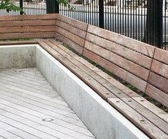 Custom Wall Mounted Hardwood Seating Solution SST NS