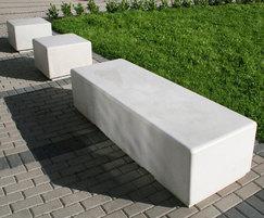 Pewsham concrete bench -  University of Hertfordshire