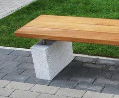 Grey granite plinth-mounted benching SBN304