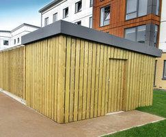 External building cladding to match the scheme