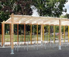 CityHeightsAcademy SCS302 cycle shelter and racks