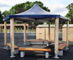 Fenstanton Primary SPG315 tensile canopy