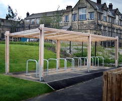 Sheldon Modular Timber Cycle Shelter - SCS301