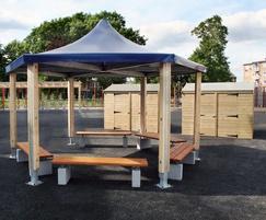 Sheldon Hexagonal Timber Shelter - SPG315