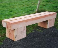 Sheldon Rustic Timber Bench - SBN317