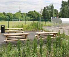 Cycle Shelter, Picnic Tables & Litter Container