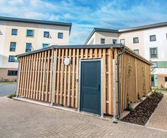 Bespoke Sheldon timber-clad cycle shelter