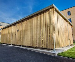 Sheldon timber-clad cycle shelter - SCS309