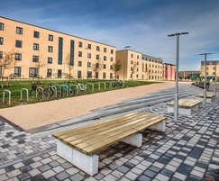 Sheldon benches & Malford cycle racks - SBN304 & MCR200