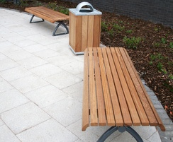 Langley Timber Slatted Benches - LBN106