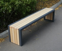 Langley Treated Redwood Steel Framed Bench - LBN117