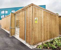 Sheldon Timber Clad Cycle Shelter - SCS315