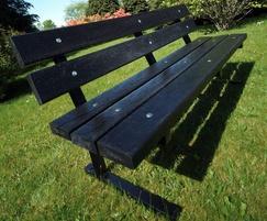 Pewsham Steel Framed Recycled Plastic Seat - PST401