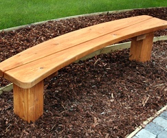 Sheldon All Timber Curved Bench - SBN322