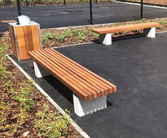 Benches and Litter Container - LBN114 & SLC302