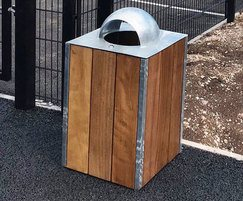 Sheldon Timber Litter Container - SLC302
