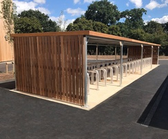 Malford Cycle Shelter with Timber Cladding - MCS210