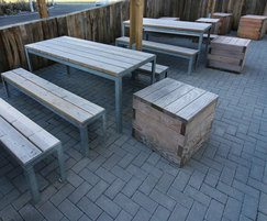 Sheldon Picnic Tables & Cubes - SPT318 & SBN314