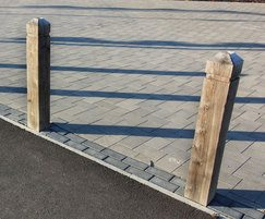 Sheldon Timber Bollards - SBD300