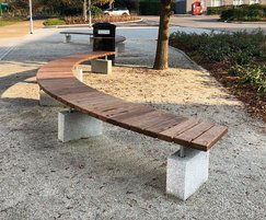 Sheldon Curved Timber Bench - SBN307