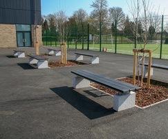 Sheldon recycled plastic benches - SBN310-2200