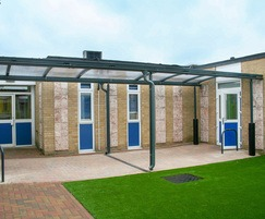 Malford external curved steel canopy - MCP210