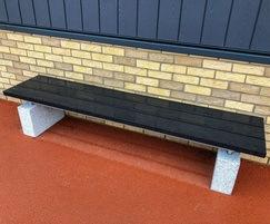 Sheldon recycled plastic bench - SBN310-2200