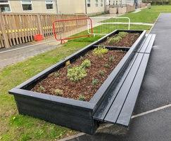 Sheldon recycled plastic straight planter - SPL316