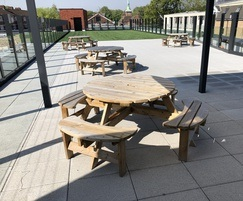 Sheldon All Timber Picnic Table - SPT306