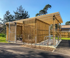 Bespoke Timber Cycle Shelter Enclosed Cycle Shelter