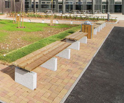Sheldon benches and litter bin - SBN304 and SLC302