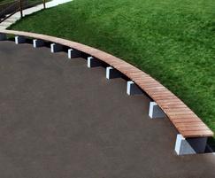 Sheldon Curved Timber Topped Bench - SBN307