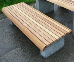 Langley Plinth Mounted Benches - LBN100