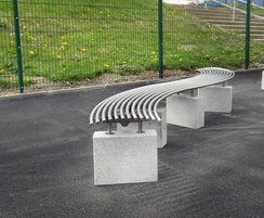 Malford Plinth Mounted S Shaped Bench - MBN211