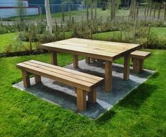 Sheldon All Timber Picnic Table - SPT314