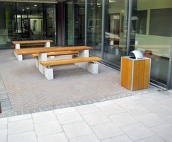 Sheldon Plinth Mounted Timber Picnic Table - SPT311