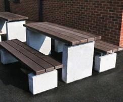 Sheldon Plinth Mounted Picnic Table - SPT311