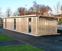 Sheldon Timber Clad Enclosed Cycle Shelter - SCS309