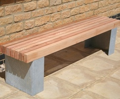 Langley Bench with Steel Plinth Type Legs - LBN107