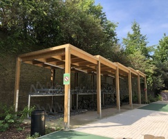 Sheldon Cycle Shelter with Sedum Roof – SCS304