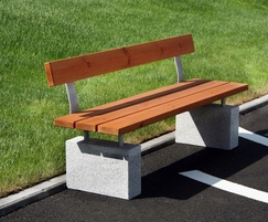 Sheldon Plinth Mounted Timber Seat - SST302