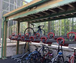 Safe cycle storage for primary school